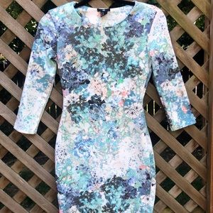 Bodycon Watercolor Floral H&M Dress
